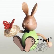 Kuhnert - Stupsi Hase mit Schmetterling