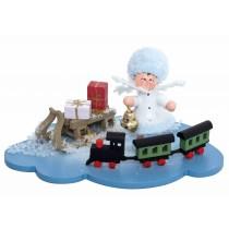 Kuhnert - Schneeflöckchen auf Wolke mit Eisenbahn