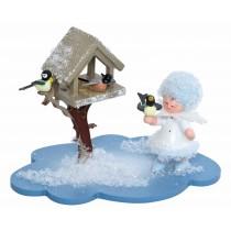 Kuhnert - Schneeflöckchen auf Wolke mit Futterhaus
