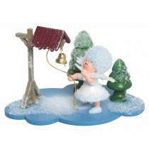 Kuhnert - Schneeflöckchen auf Wolke mit Glocke