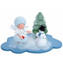 Kuhnert - Schneeflöckchen auf Wolke mit Schneemann