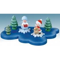 Kuhnert - Wolke für Schneeflöckchen 1 Etage klein (Im Lieferumfang ist nur die Wolke enthalten - keine Figuren)