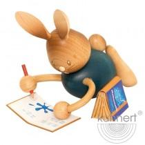 Kuhnert - Stupsi Hase Homeschooling liegend mit Heft