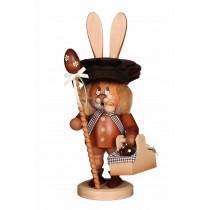 Christian Ulbricht - Räucherfigur Wichtel Hase mit Eierkorb