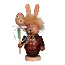 Christian Ulbricht - Räucherfigur Miniwichtel Hase mit Stab