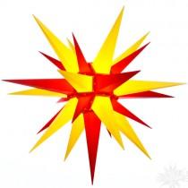 Original Herrnhuter Stern für außen ø ca. 130 cm gelb / rot (A13)