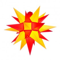 Original Herrnhuter Stern für außen ø ca. 40 cm gelb / rot (A4)