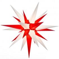 Original Herrnhuter Stern für außen ø ca. 130 cm weiß / rot (A13)