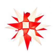 Original Herrnhuter Stern für außen ø ca. 40 cm weiß / rot (A4)