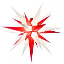 Original Herrnhuter Stern für außen ø ca. 68 cm weiß / rot (A7)