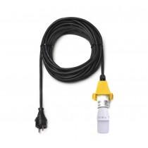 10 m Kabel für gelbe Herrnhuter Sterne aus Kunststoff (A4/A7) inkl. LED
