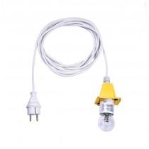 5 m weißes Kabel für gelbe Herrnhuter Sterne aus Kunststoff (A4/A7)