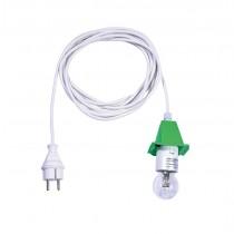 5 m weißes Kabel für grüne Herrnhuter Sterne aus Kunststoff (A4/A7)