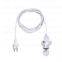5 m weißes Kabel für opale Herrnhuter Sterne aus Kunststoff (A4/A7)