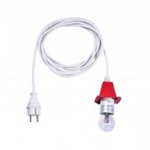 5 m weißes Kabel für rote, weiß-rote, gelb-rote Herrnhuter Sterne aus Kunststoff (A4/A7)