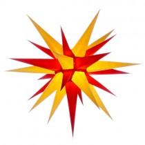 Original Herrnhuter Stern für innen ø ca. 70 cm gelb / rot (I7)