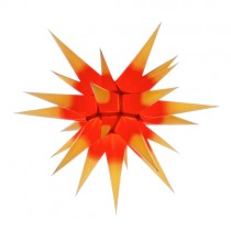 Original Herrnhuter Stern für innen ø ca. 60 cm gelbe Spitzen mit rotem Kern (I6)