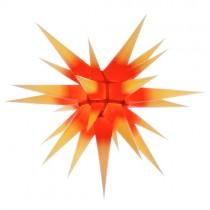 Original Herrnhuter Stern für innen ø ca. 70 cm gelbe Spitzen mit rotem Kern (I7)