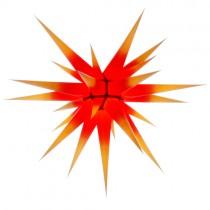 Original Herrnhuter Stern für innen ø ca. 80 cm gelbe Spitzen mit rotem Kern (I8)