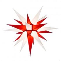 Original Herrnhuter Stern für innen ø ca. 60 cm weiß / rot (I6)