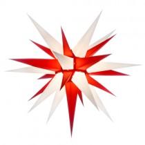 Original Herrnhuter Stern für innen ø ca. 70 cm weiß / rot (I7)