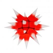 Original Herrnhuter Stern für innen ø ca. 40 cm weiße Spitzen mit rotem Kern (I4)