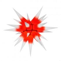 Original Herrnhuter Stern für innen ø ca. 60 cm weiße Spitzen mit rotem Kern (I6)
