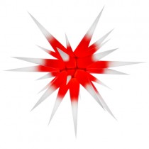 Original Herrnhuter Stern für innen ø ca. 80 cm weiße Spitzen mit rotem Kern (I8)