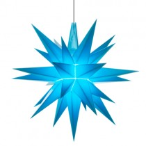 Original Herrnhuter Stern für innen ø ca. 13 cm blau (A1e)