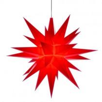 Original Herrnhuter Stern für innen ø ca. 13 cm rot (A1e) inkl. LED