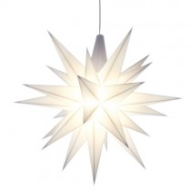 Original Herrnhuter Stern für innen ø ca. 13 cm weiß (A1e) inkl. LED