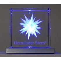 Herrnhuter Sterne Kristallglasstern blau