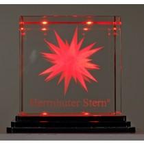 Herrnhuter Sterne Kristallglasstern rot