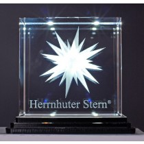 Herrnhuter Sterne Kristallglasstern weiß