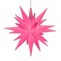 Original Herrnhuter Stern für innen ø ca. 13 cm rosa (A1e) limitiert inkl. LED