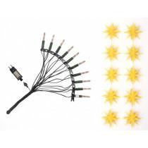 Original Herrnhuter Sternenkette für innen und außen ø ca. 13 cm gelb (A1s) inkl. LED