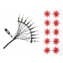 Original Herrnhuter Sternenkette für innen und außen ø ca. 13 cm rot (A1s) inkl. LEDs