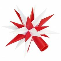 Ersatz-Stern für Herrnhuter Sternenketten (A1s) weiß-rot