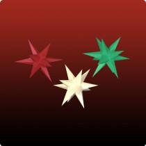 Dresdner Weihnachtsstern im Set rot/gelb/grün