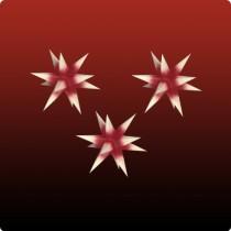 Dresdner Weihnachtsstern im Set rot mit gelben Spitzen