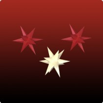 Dresdner Weihnachtsstern im Set rot/gelb/rot