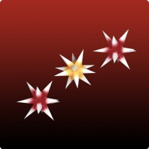 Dresdner Weihnachtsstern im Set rot/gelb/rot mit weißen Spitzen