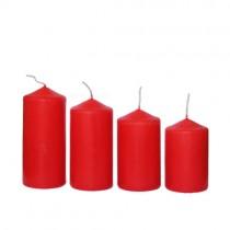 Stumpenkerzen abgestuft 4 Stück rot 50x65 bis 110mm
