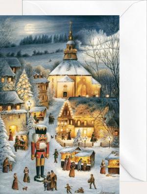 Brück & Sohn - Weihnachtsklappkarte - Seiffen