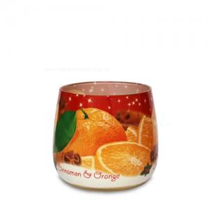 """Duftkerze im Glas """"Christmas Spices"""" Zimt und Orange"""