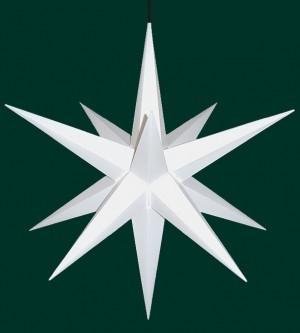Haßlauer Weihnachtsstern für außen weiß 75 cm inkl. LED