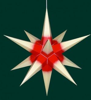 Haßlauer Weihnachtsstern für innen creme mit rotem Kern 65 cm