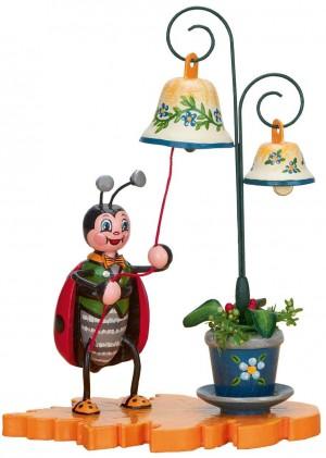 Hubrig Volkskunst - Marienkäfer mit Glockenspiel