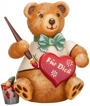 Hubrig Volkskunst - Hubiduu - Teddy mit Herz - Herzelmaler