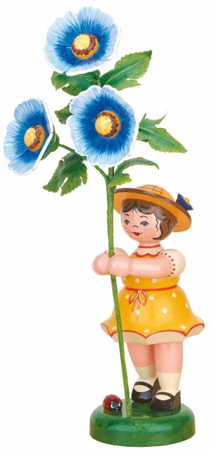 Blumenkinder - Blumenmädchen Malve - blau 24cm